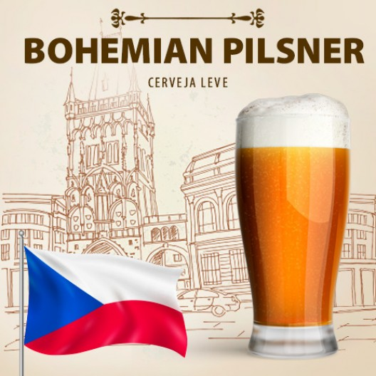 Kit para 50 Litros de Cerveja Bohemian Pilsner