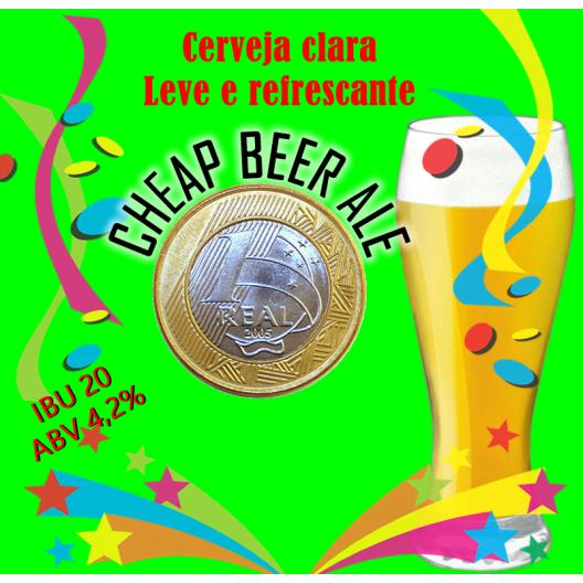 KIT PARA 50 LITROS DE CERVEJA CHEAP BEER ALE