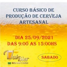 CURSO BÁSICO DE PRODUÇÃO CASEIRA DE CERVEJA 25/09/2021 - SABADO.