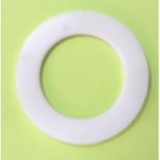 """Arruela de Vedação  em Silicone para rosca 1/2"""" - Branca - VALBIER"""