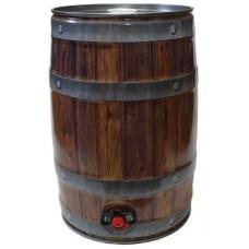 Mini keg 5 litros com Torneira - Estilo Madeira