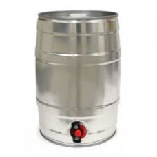 Mini keg 5 litros com Torneira - Prata