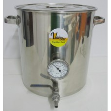 Panela Cervejeira em Inox 30 litros com Termômetro Bimetálico-Valbier