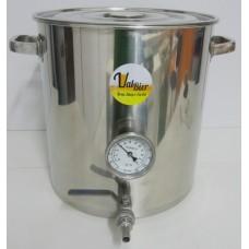Panela Cervejeira em Inox 45 litros com Termômetro Bimetálico-Valbier