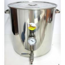 Panela Cervejeira em Inox 90 litros com Termômetro Bimetálico-Valbier