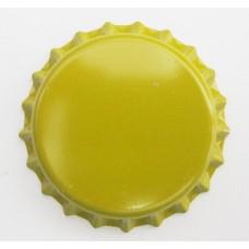 Tampinha Metalica Pry Off Cor Amarelo 26mm - VALBIER