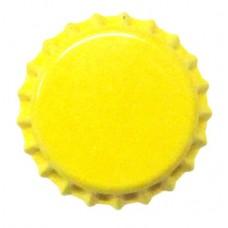 Tampinha Metalica Pry Off Cor Amarelo Titanio 26mm - VALBIER