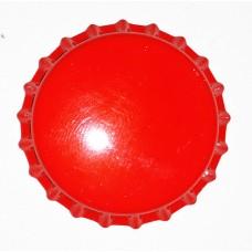 Tampinha Metalica Pry Off Cor Vermelha 26mm - Valbier